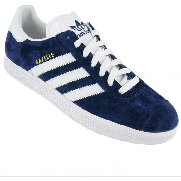 Adidas navy blue suede gazelle sneakers